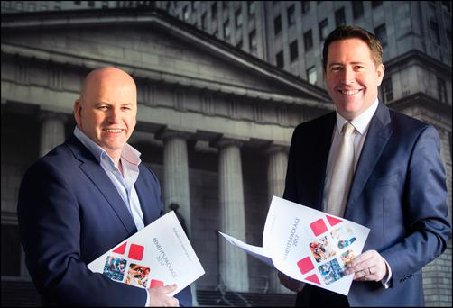 Sean Gallagher with Ken Harbourne, managing director of Wallace Myers International. Photo: David Conachy