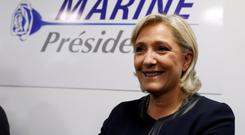 National Front leader Marine Le Pen is a candidate in the upcoming French presidential election Photo: Reuters