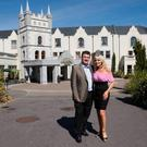 Bill Cullen and Jackie Lavin outside the Muckross Park – they owned the hotel until a receiver was appointed in 2013