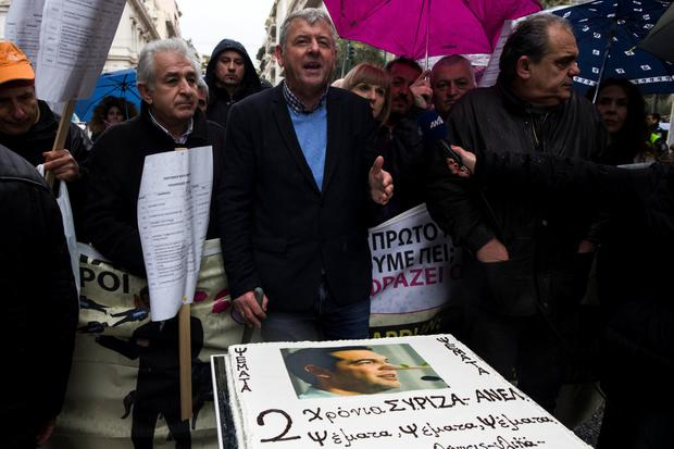 Health workers protest at Greek government plans as a new deal on bailout reforms is tipped to be signed off in February