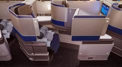 United Airlines Polaris business class seat