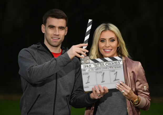 Seamus Coleman and Claudine Keane are ambassadors for SPAR'S healthy eating initiative 'Better Choices' Photo: Sportsfile