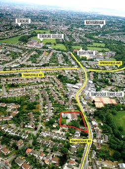 The Templeogue Road site is just 6km from Dublin city centre