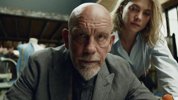 John Malkovich featured in a Superbowl ad for Squarespace