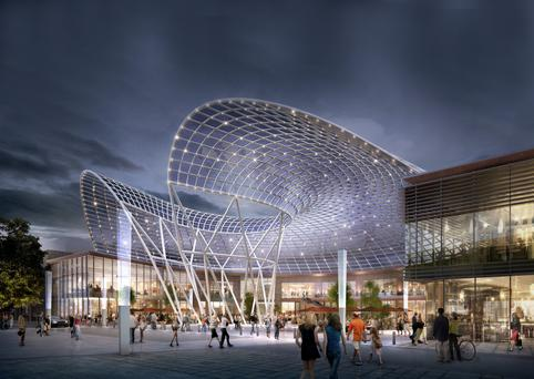 An artist's impression of how the revamped Liffey Valley Shopping Centre would have looked