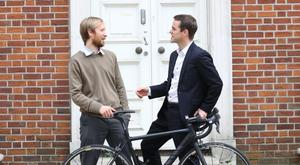 Mark Bennett and Wawrzyniec Wawro, co-founders of BikeLook, one of the companies that Enterprise Ireland invested in
