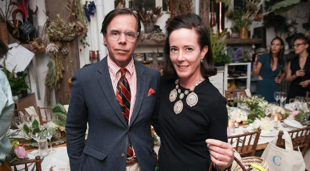 Andy and Kate Spade, who co-founded the fashion label in New York in 1993 with a handbag range