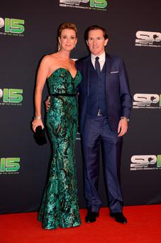 Former jockey AP McCoy and his wife Chanelle Burke — she will star in the new season of Dragons' Den. Photo: Carrie Davenport/Getty Images