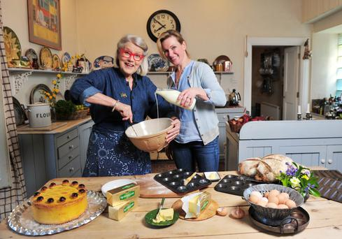Darina and Rachel Allen pictured in a photoshoot for the Ballymaloe Cookery School