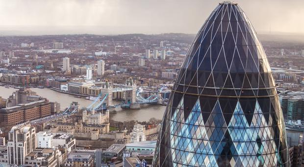 Vacancy rates in the City of London, the British capital's main financial district, climbed in the second half of the year