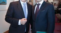 Taoiseach Enda Kenny with IDA chief executive Martin Shanahan