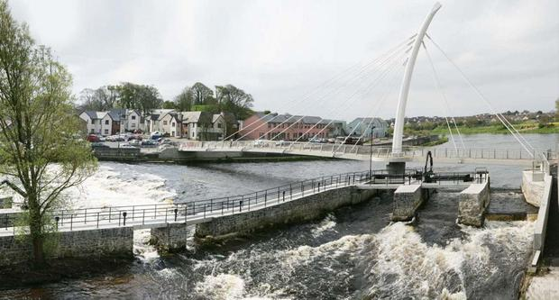 The Ward & Burke-built footbridge over the River Moy in Ballina