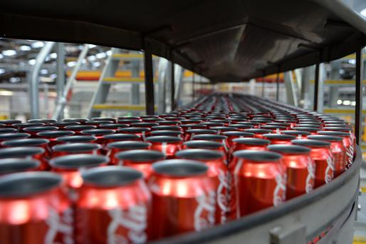 Coca-Cola employs around 1,750 people at facilities in Antrim, Dublin, Kildare, Mayo, Wexford and Louth Photo: Bloomberg