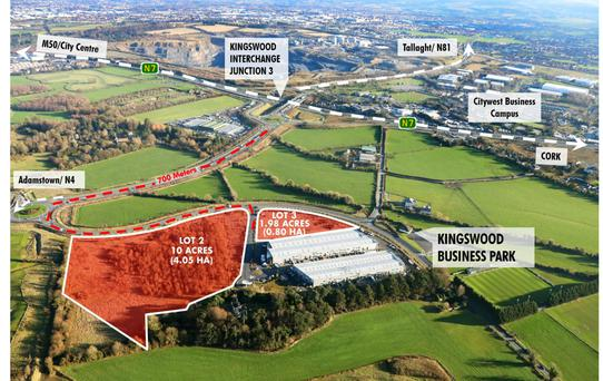 CBRE are seeking €2.5m for 11.98 acres at Kingswood Business Park in Dublin