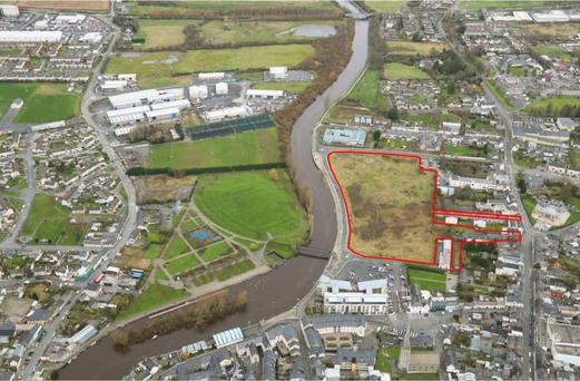 The 8.4 acre site in Carlow Town