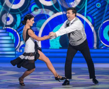 Des Cahill & Karen Byrne on RTE's Dancing with the Stars.