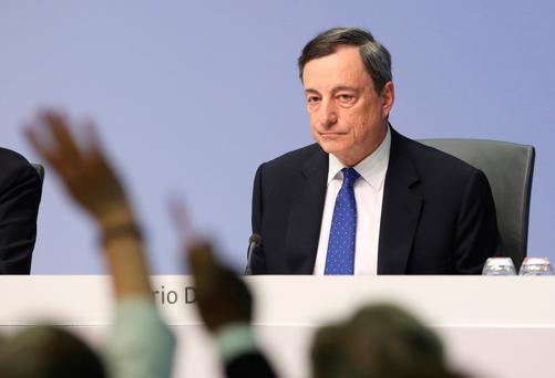 ECB President Mario Draghi has been coy about whether his institution could raise interest rates before its bond-buying program is due to expire
