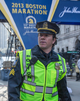 Mark Wahlberg in Patriots Day.