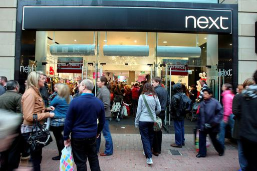 Profits at Next fell for the first time in eight years