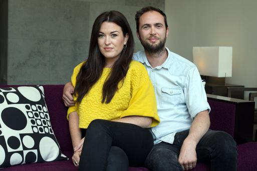 John McGee and Riva O'Malley of Black Castle who produce craft sodas in Wicklow which they see as having a huge export potential. Photo: Tony Gavin