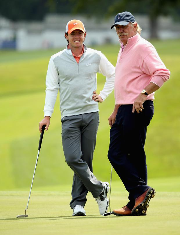 Golf: Dermot Desmond pictured with Rory McIlroy