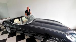 Michael Flatley and his Jaguar E-Type.