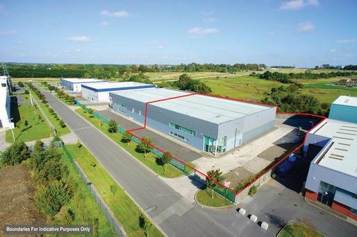 The property comprises industrial and office accommodation