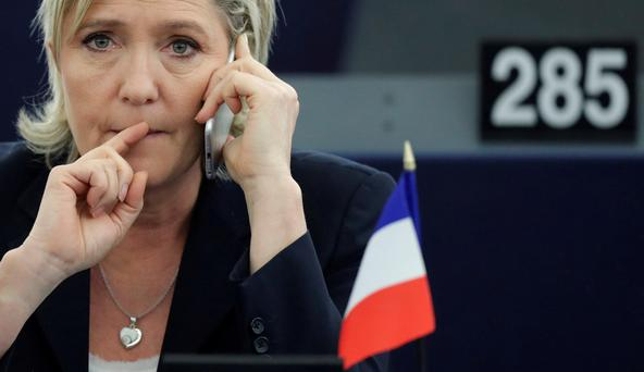 'Marine Le Pen is expected to win the first round of the French presidential elections but be defeated by Macron or Fillon in the second vote' Photo: Reuters