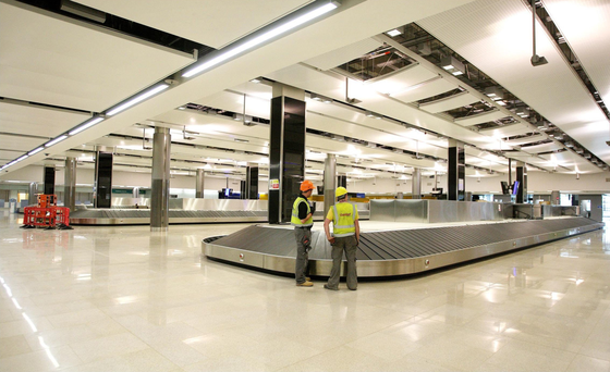 The baggage hall during the construction phase of Dublin Airport's Terminal 2. The contract for the upgrade at Dublin and Cork airports is expected to be awarded next January