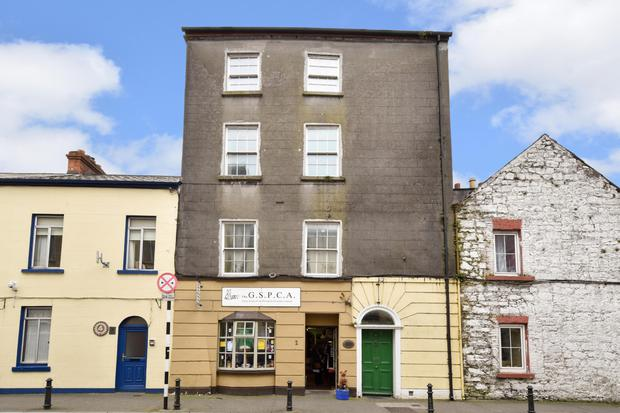 No.2 St Augustine Street, Galway, is guiding €350,000, while Mountrath Business Park