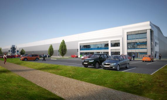 An artist's impression of the Mountpark Logistics hub in Dublin