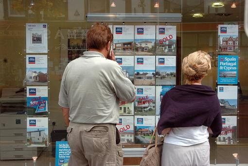 A report from the Central Statistics Office showed the age at which most people own their home has increased by seven years since 2006. Photo: Bloomberg