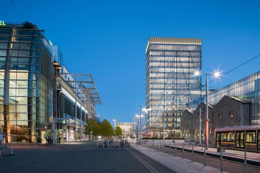 The proposed Exo Building will vie for the title of Dublin's tallest office building.