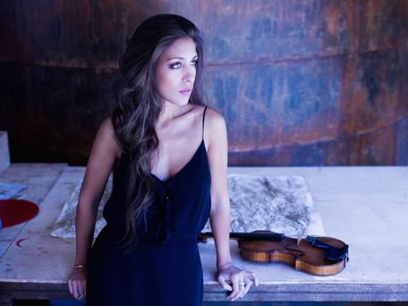 Spanish violinist Leticia Moreno, who's performing with the RTE Symphony Orchestra at the NCH tonight
