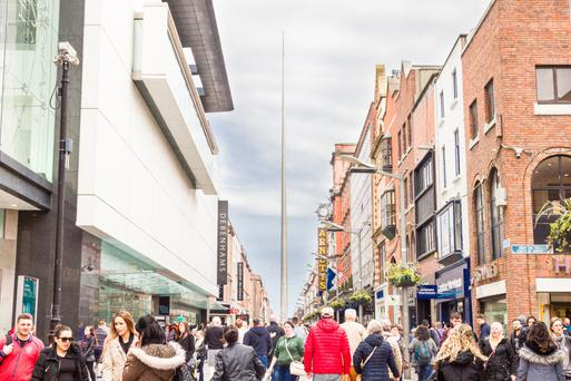 Shoppers on Dublin's Henry Street — but consumer confidence in the capital has taken a knock
