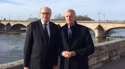 Phil Hogan with Michel Barnier