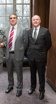 Frank Collins, managing director of CAE Parc Aviation, and Edwin Kelly, director of operations