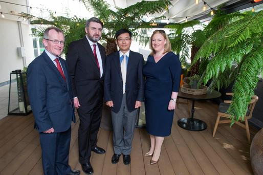 Tourism Ireland CEO Niall Gibbons; Martin Murray, executive director Asia Matters; Dr Yue Xiaoyong, China's ambassador to Ireland and INM Group Business Editor Dearbhail McDonald at the Asia Matters conference in Cork