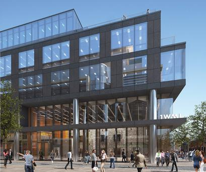 Windmill Lane, one of three major Dublin office schemes Hibernia Reit is involved in