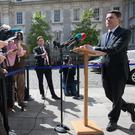 Public Expenditure Minister Paschal Donohoe at Government Buildings during a briefing about the Public Service Pay Commission Report Photo: Gareth Chaney