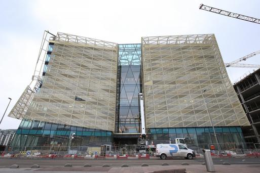 The New Central Bank Building on Dublin's North Wall Quay. Photo: Irish Independent
