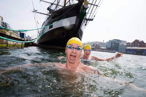 Swim Ireland's Leinster Open sea series, launched by Pawel Rudzinski and Vanessa Daws, is backed by Jones