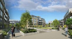 Carriglea is one of four proposed apartment schemes being offered to the market by Marlet Property Group for a total of €425m.