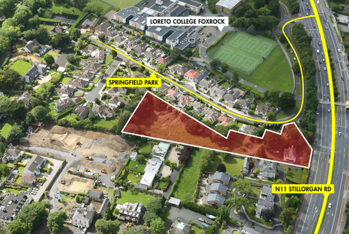 The site has direct access on to the N11 (Stillorgan Road) dual carriageway