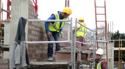 A housebuilding site in Dublin (Stock image) Photo: Bloomberg