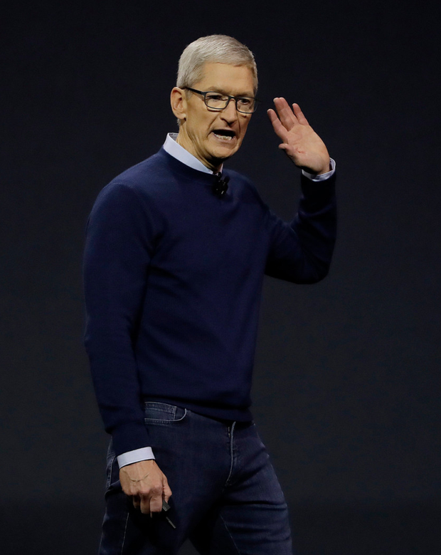 Apple chief Tim Cook unveiled new lines at the annual developer event. Photo: AP