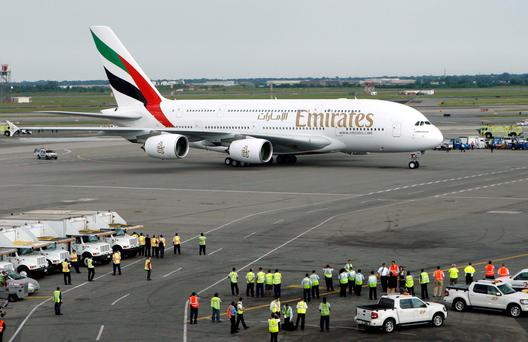 Emirates is studying a high-tech future with augmented reality goggles aimed at enhancing its customer service
