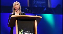 Helen Dixon, Irish Data Protection Commissioner, speaking at the Data Summit at the Convention Centre in Dublin. Photo: Robbie Reynolds.