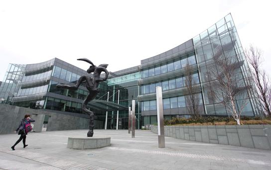 AIB's HQ in Ballsbridge — a reduction in Irish mortgage interest rates to the eurozone average would cost AIB €435m a year and Bank of Ireland €360m