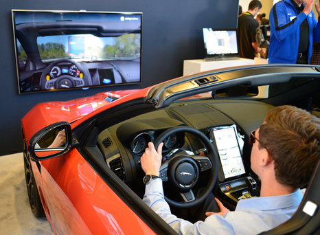 Jaguar's Driver Monitoring System is the result of a collaboration between Jaguar Land Rover, SeeingMachines and Intel